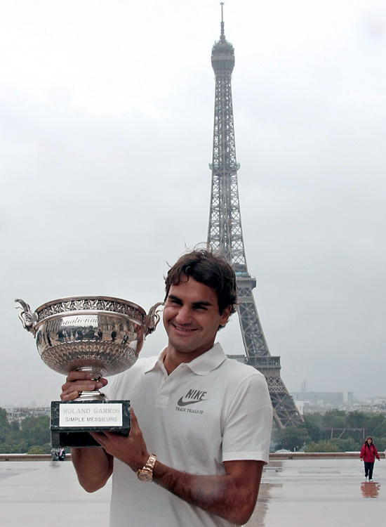 By winning the French Open, Roger Federer joined a short list of players who have won all four majors. Here's a look at the rare few who have accomplished the Career Grand Slam.  Federer, shown enjoying a little down time after defeating Robin Soderling in the final, became the sixth male to capture a career slam.