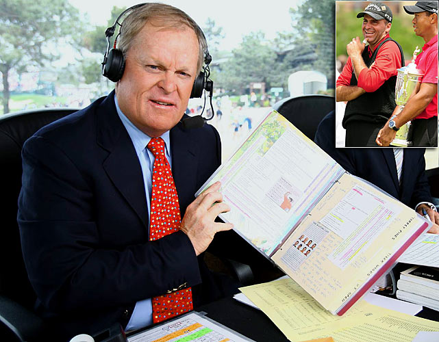 ''Yeah, he's a character. He looks more like the guy who cleans Tiger's swimming pool.'' <italics>--- NBC golf analyst Johnny Miller, on golfer Rocco Mediate during the U.S. Open.</italics>