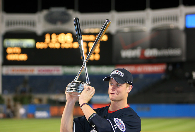 Justin Morneau finished with 22 homers overall, far short of Josh Hamilton's 35, but won the Derby by outhomering Hamilton 5-3 in the finals.