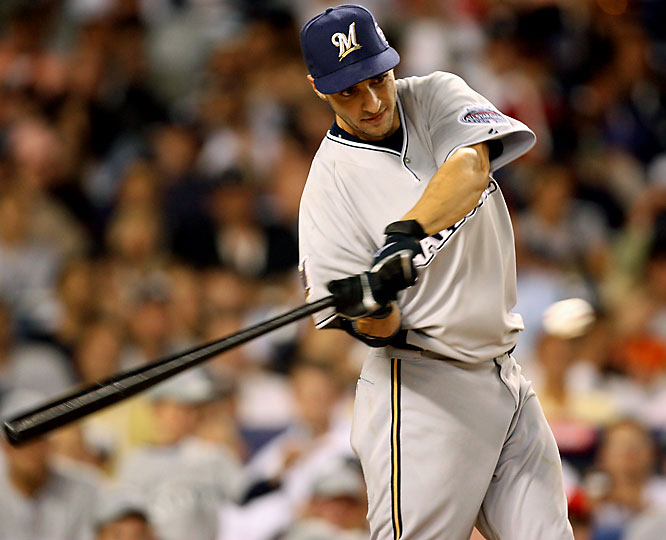 After opening with six straight outs, Ryan Braun jacked seven homers to advance to the second round, where he finished with seven more.