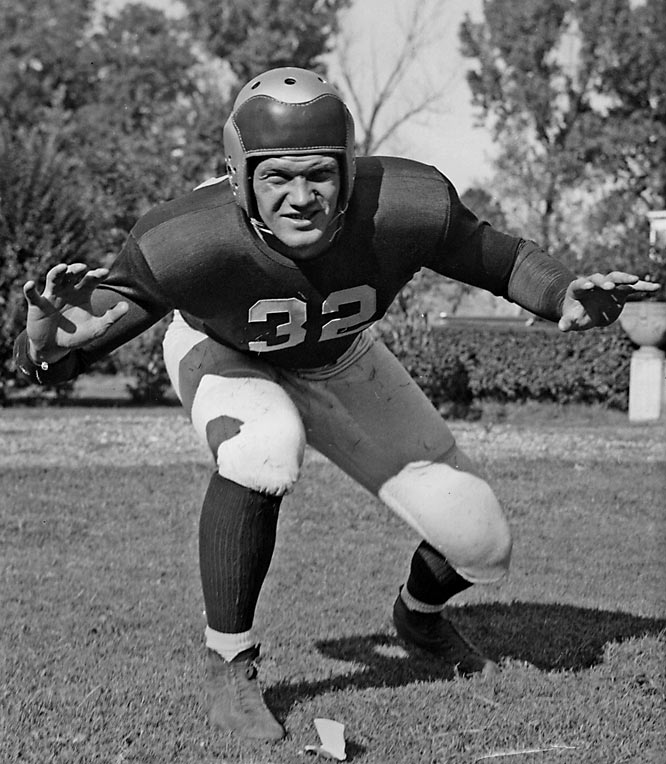 Pure athleticism makes Blozis one of the greatest Hoyas of all time. A multi-sport talent, he represented Georgetown in football and track and field. The NCAA shot put champion had one of his finest football performances in the 1941 Orange Bowl and went on to play professional football for the New York Giants.