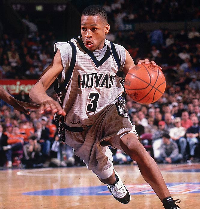 Iverson may have only stuck around Georgetown for two years, but during his limited time in the District, he smashed Hoya-record after Hoya-record. He ranks at the top in both points in a season (926), career scoring average (23 ppg), seasonal scoring average (25 ppg) and steals (124). Iverson was named Big East Defensive Player of the Year both seasons and was named a first team All-America his final year.