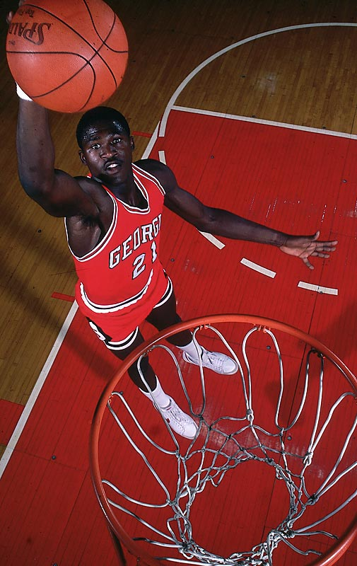 """""""The Human Highlight Film"""" posterized opponents for Georgia before making the leap to stardom with the Atlanta Hawks. Wilkins ended his career as Georgia's all-time leading scorer and still holds the mark for most points scored in a single season. A three-time All-SEC selection, Wilkins was inducted into the Georgia Sports Hall of Fame in 2004."""