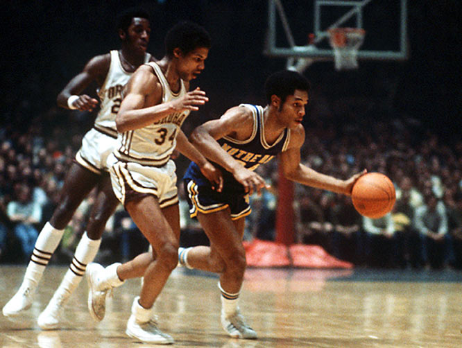 Carr dominates the Irish's basketball record books. ND's all-time leading scorer (2,560 points), he was inducted into the College Basketball Hall of Fame in 2007. From 1968-71, the guard controlled the court in South Bend. He was named the AP's National Player of the Year his senior season and in the same year, he was the first pick overall in the NBA draft.