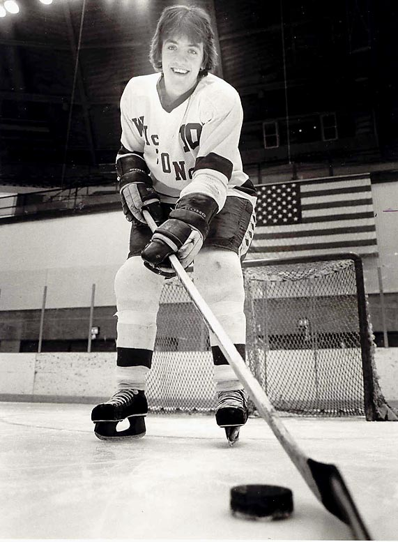 The top goal scorer for the 1980 U.S. Olympic team is also the top goal scorer in Wisconsin history, earning two All-America honors and Hockey News' 1979 College Player of the Year award.