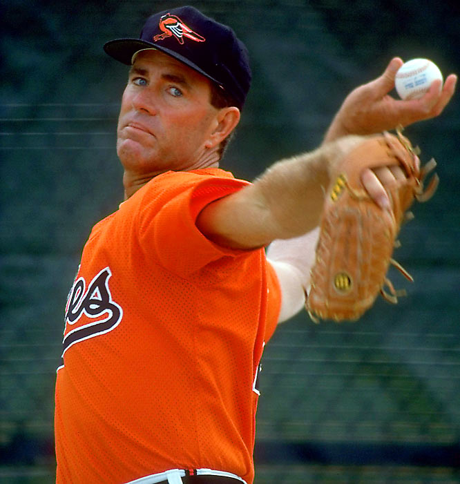 Considered one of the best pitchers in major league history, Palmer called it a career in 1984 after winning 268 games in 19 seasons with the Baltimore Orioles. Just a year after being inducted to the Hall of Fame in 1990, the 45-year-old Palmer attempted a comeback with his former team. He gave up five hits and two runs in two innings of a spring training game and re-retired before Opening Day.