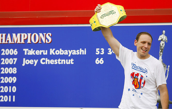After two years and 127 hot dogs, ex-champ Kobayashi is still title-less.