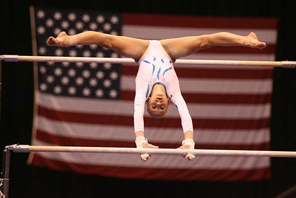 Liukin is favored on the uneven bars after a narrow loss in the World Championships.