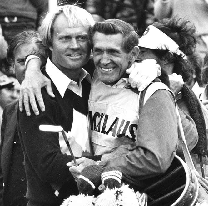 Jack Nicklaus shoots a 281 at St Andrews to win his third British Open title.