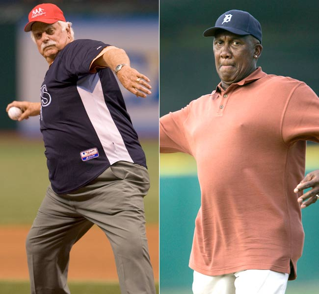 Gaylord Perry (left), Ferguson Jenkins (right), Rod Carew, Tony Lazzeri and Bill Veeck are elected into the Hall of Fame in Cooperstown, New York.