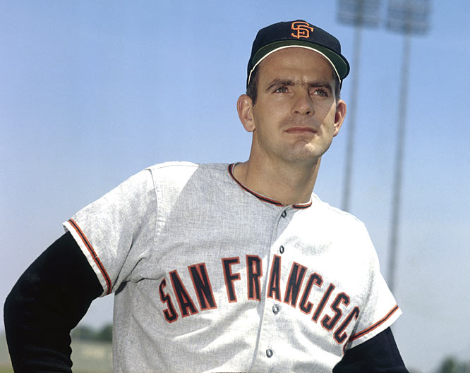 Clay Dalrymple breaks up a no-hitter bid by Giants hurler Gaylord Perry with an eighth inning single.
