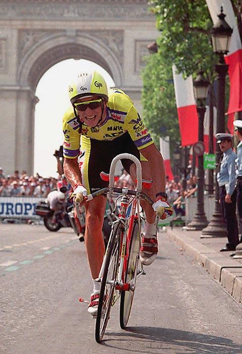 Greg LeMond wins his third and final Tour de France.