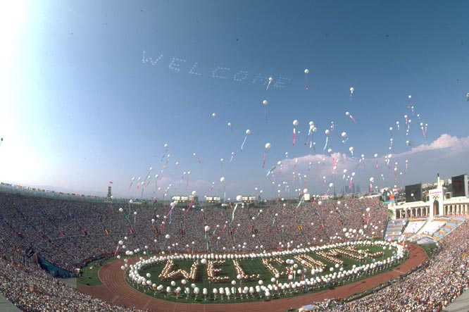 The Olympic Games Opening Ceremony take place in Los Angeles.