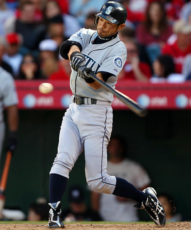 Ichiro Suzuki gets his 3,000th hit as a professional baseball player. The 34-year-old Mariners outfielder had collected 1,278 hits with the Orix Blue Wave in the Japan's Pacific League, and his first-inning single in Texas was his 1,722nd hit with Seattle during eight seasons the team.