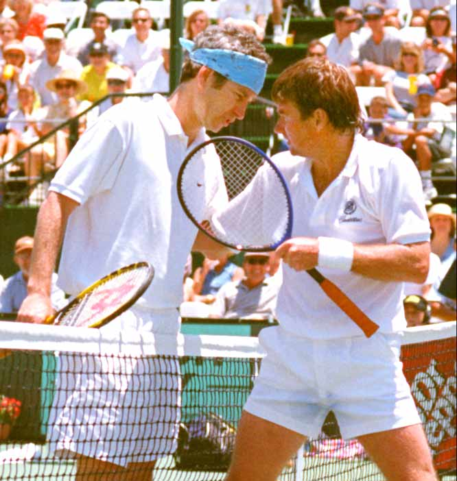 Jimmy Connors beats John McEnroe in five sets to claim his second career Wimbledon championship.