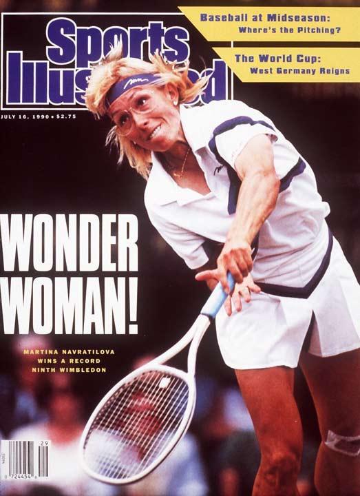 Martina Navratilova wins a record ninth Wimbledon women's singles title by beating Zina Garrison is straight sets (6-4, 6-1).