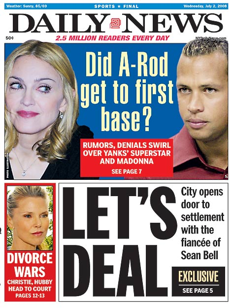 """Alex Rodriguez can hit homers with the best of them, but off the field, the Yankees $275-million man's ability to score has taken a hit. A little more than a year since A-Rod became Stray-Rod, the third baseman is, yet again, being called out on his tangled love life. From """"The Material Girl"""" and stripper No. 2, to soon-to-be-ex C-Rod and her Parisian escape with rocker Kravitz, the tabloids are having a field day with the Rodriguez clan. Here are some of the headlines and covers SI.com enjoyed the most."""