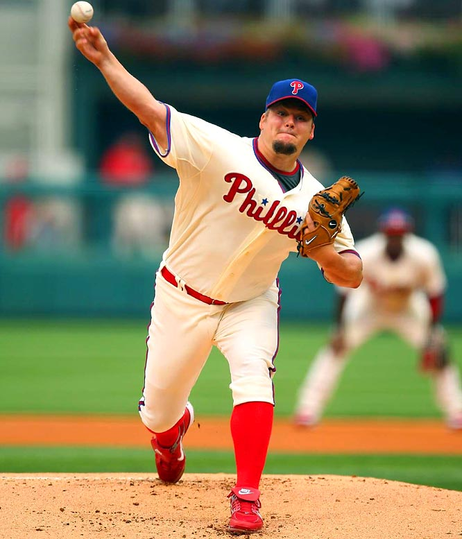 On July 17, Blanton was traded to the Phillies for pitcher Josh Outman, second baseman Adrian Cardenas and outfielder Matt Spencer. Despite Blanton having a 7.88 ERA in his two starts, the Phillies won both games and were  in first place in the NL East as of July 30.