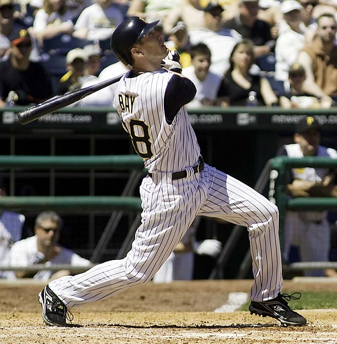 Considering Bay leads the team in home runs (17) and is second in runs and hits, it would probably take a big package deal to send him elsewhere. The Angels and Dodgers have expressed interest in trade deals involving the power hitter with his .292 batting average, but the likelihood of a deal, according to the Pittsburgh Post-Gazette, is slim.