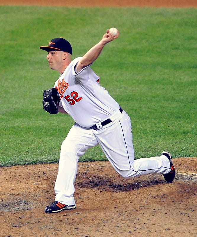 Traded to the Orioles this year after four seasons with the Mariners, Sherrill is tied for second in MLB with 27 saves and headed to the All-Star Game. Earning an All-Star appearance, Sherrill would benefit a team like the Brewers who are in need of a solid closer.