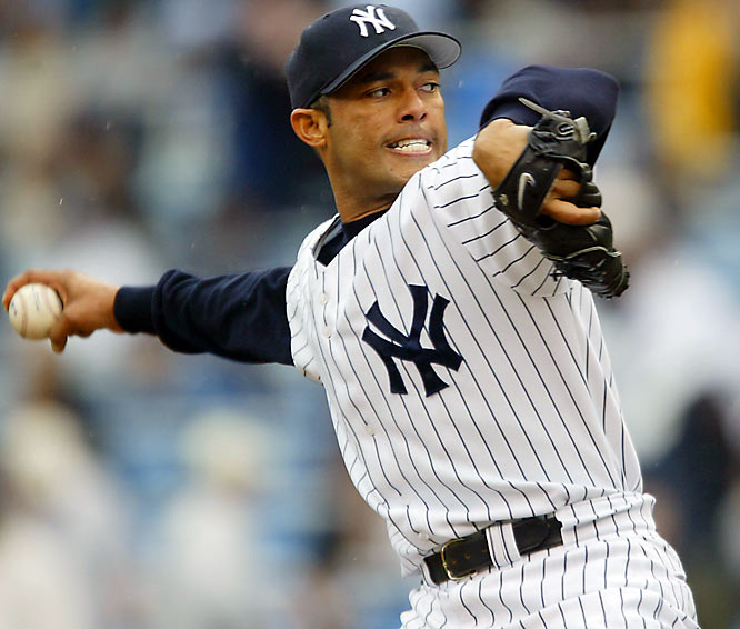 At 34, the Yankees' Mariano Rivera finished with a career-best 53 saves, helping New York to its eighth straight AL East crown. Rivera had a then-AL-record 32 saves at the break and went on to post a 1.38 ERA on the way to his third Rolaids Relief Man of the Year award.