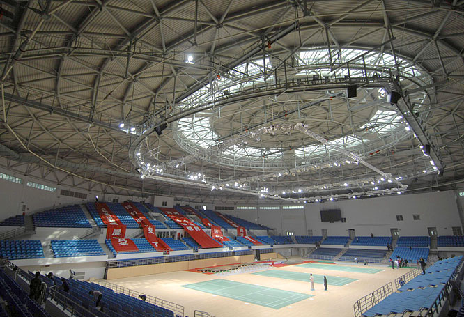 The judo and taekwando competitions will take place at the recently completed Beijing University of Technology Gymnasium.