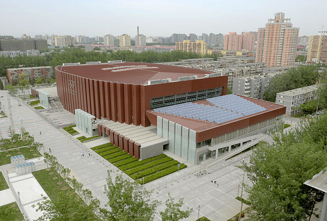 Seating 7,500 fans, the Beijing Science and Technology University Gymnasium will host the badminton and rhythmic gymnastics competitions.