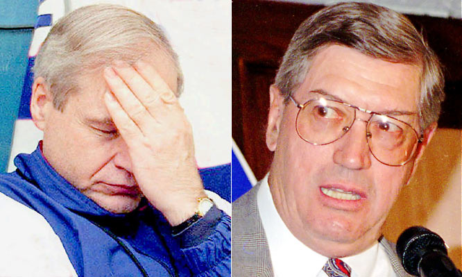 It's hard to pinpoint exactly when the Isles' catastrophic slide began, but the 1988-89 season seems as good a place as any. Under Terry Simpson, the third-year successor to legendary coach Al Arbour, the team opened by winning only seven of its first 27 games, prompting GM Bill Torrey to bring back Arbour -- to no avail. The Isles finished tied with Quebec for the NHL's worst record (28-47-5).