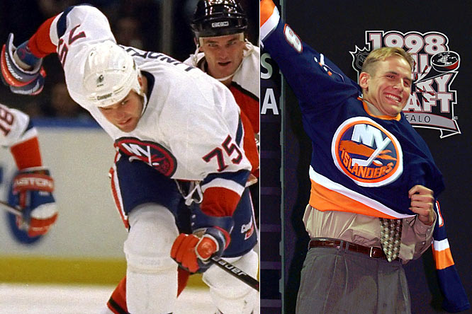 Losing often yields rewards in the form of high draft picks, but the Isles' luck soured there, too. In 1989, they took forward Dave Chyzowski second overall. He played in 15 NHL games. Other unfortunate first-rounders include Scott Scissons (1990, 6th), Mike Rupp (1998, 9th), the quartet of Tim Connolly (5th), Taylor Pyatt (8th), Branislav Mezei (10th) and Kristian Kudroc (28th) in 1999, and Brett Lindros (1994, 9th) -- the brother of Eric -- whose career was cut short by concussions. To the dismay of Islanders fans, many picks that panned out were traded away.