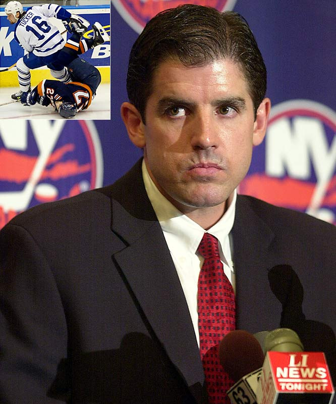 In May 2001, the Isles raised eyebrows by hiring the relatively unknown Peter Laviolette as coach, rather than former Jack Adams Award-winner Ted Nolan. Laviolette then led the Isles to a dramatic 44-point turnaround in 2001-02 and their first playoff berth in seven years. However, the promise was short-lived as Darcy Tucker and the bruising Maple Leafs knocked the upstart Isles out of the playoffs in seven games.