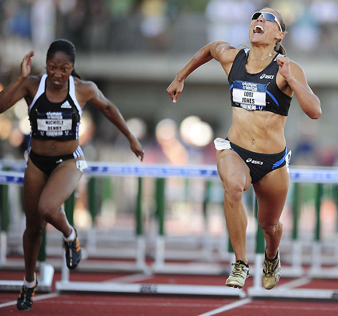 Former LSU All-America Lolo Jones smoked the competition in the 110-meter hurdles to earn her first Olympic trip.
