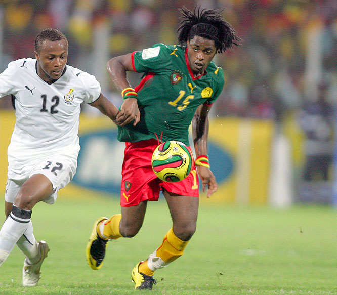 With Samuel Eto'o ruled out for Beijing, the 20-year-old Arsenal defender looks to help the Indomitable Lions to a second gold medal in three Olympic tournaments. Cameroon also won the gold at Sydney in 2000, upsetting Brazil in the quarterfinals along the way.