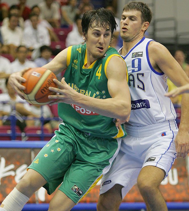The former No. 1 draft pick was a starter for the national team at the 2004 Summer Olympics and paced the Boomers in scoring and rebounding at the '06 FIBA World Championship. This past season, Bogut averaged career highs for the Bucks with 14.3 points, 9.8 rebounds and 1.7 blocks -- and inked a multi-year extension in July.