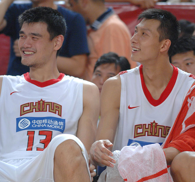 China's twin towers have cut their teeth on NBA competition and hope to lead their country to its first Olympic medal in basketball since the event's 1936 debut.