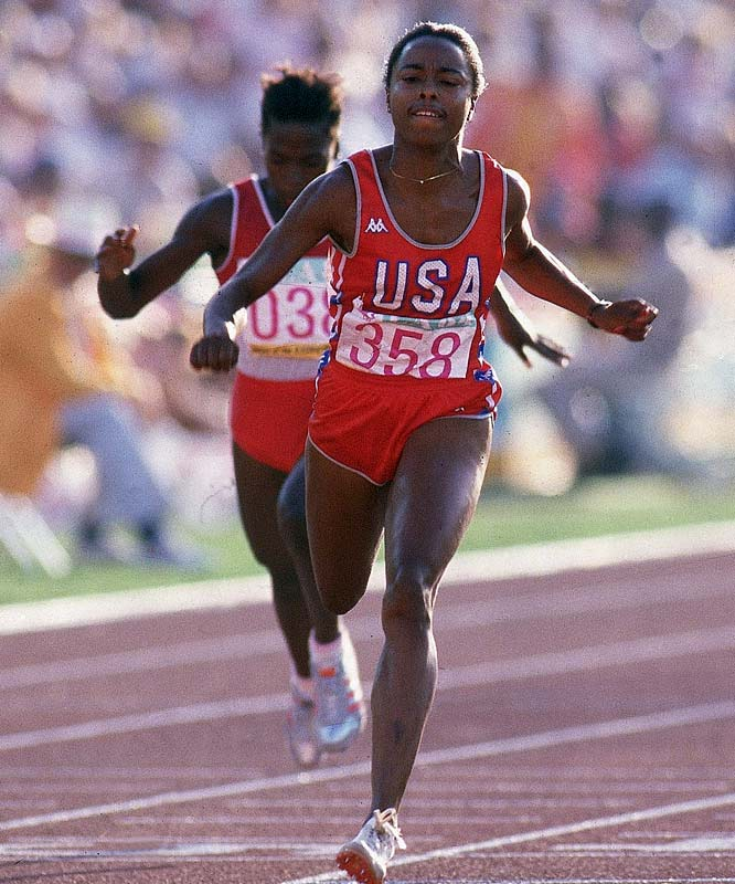 Four years after winning gold in the 100 meters and the 4x100 meter relay in 1984, Ashford was the American flag-bearer at the Seoul Olympics, where she won another gold in the 4x100 and silver in the 100 meters. Competing in four Olympics, she added a fourth gold in the 4x100 in 1992.