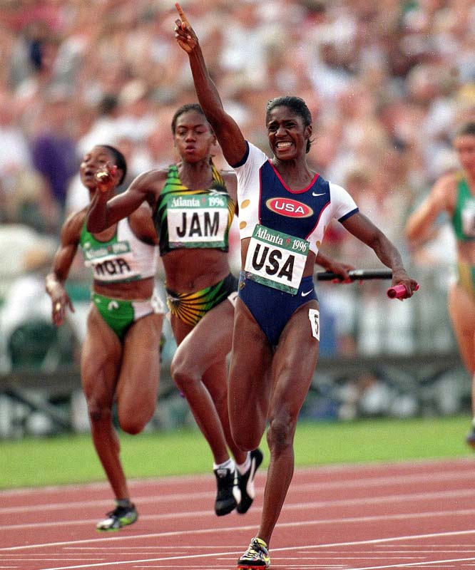 A five-time medalist, Torrence won the gold in the 200 meters and 4x100 meter relay as well as silver in the 4x400 meter relay in Barcelona. She added bronze in the 100 meters and gold in the 4x100 meter relay four years later.
