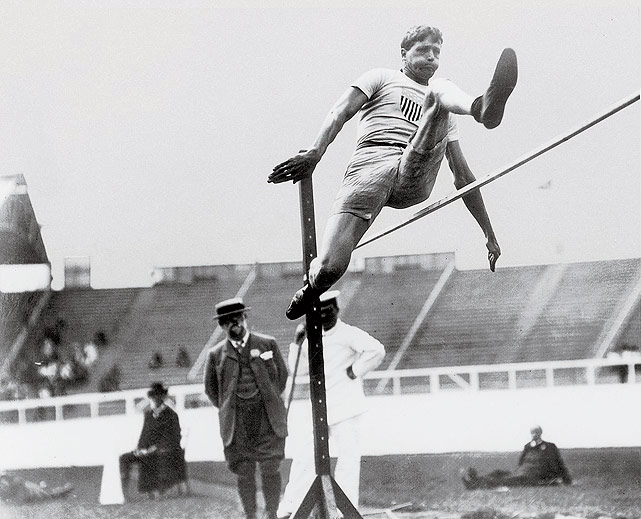 The greatest standing jumper in history, Ewry won eight individual Olympic gold medals in his career, putting him behind only Michael Phelps (nine individual medals) on the all-time list. Standing jump events were discontinued in the 1930s, but Ewry's accomplishments live on.