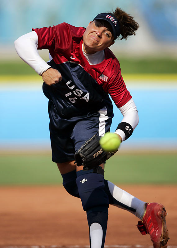 Led by veterans like Lisa Fernandez (pictured) and first-time Olympians like Jennie Finch, the U.S. outscored its opponents 51-1 throughout the tournament, not giving up a run until the championship against Australia.
