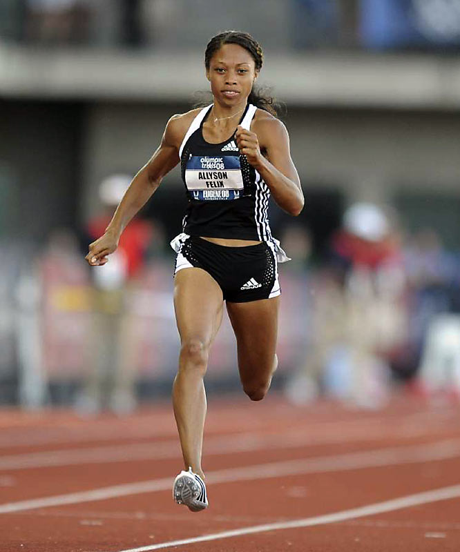 A preacher's daughter, Felix, in 2007, became only the second female to win three gold medals at a single IAAF world championships (Marita Koch was first in 1983). With Jackie Joyner-Kersee's husband, Bobby, as her coach, Felix is the favorite to win the 200.