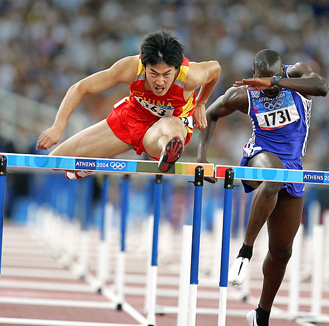 Along with basketball player Yao Ming, Liu Xiang is one of the faces for the Chinese team at the Olympics. The 110-meter hurdler is the defending Olympic champion in the event, with his 2004 gold medal marking the first for his country in a men's track and field event.