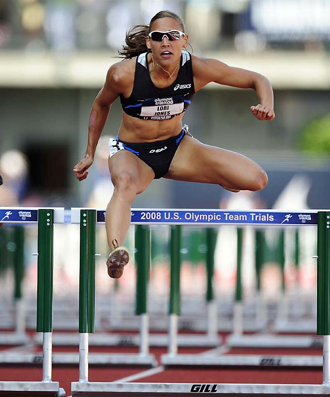 A three-time NCAA champion at LSU, Jones captured her first world indoor championship gold in March (she won the 60-meter hurdles with a time of 7.80) and won the 100-meter hurdles at the 2008 U.S. Olympic Trials. Her 12.29 at that event was the second-best time ever run under any conditions.