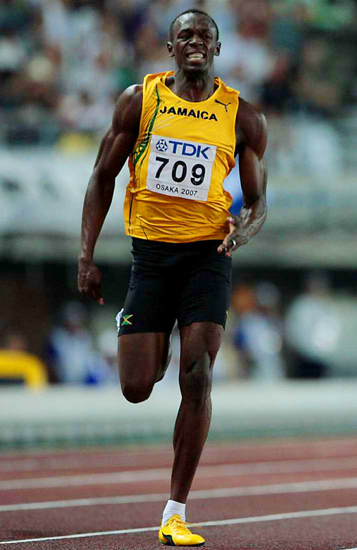 While he faces his stiffest competition in the 100-meters -- from Gay and Asafa Powell, who has come up short in previous races -- 200-meter specialist Usain Bolt has the chance to strike gold, twice. Running alongside Gay and Powell in the 100, Bolt, the 200-meter Jamaican record holder at 19.75 seconds, is the favorite.