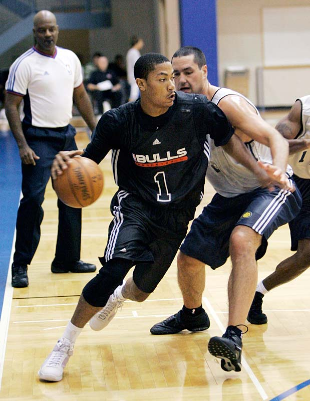 The top pick in the draft appeared in only two games at the Orlando summer league before being shut down because of tendinitis in his right knee.