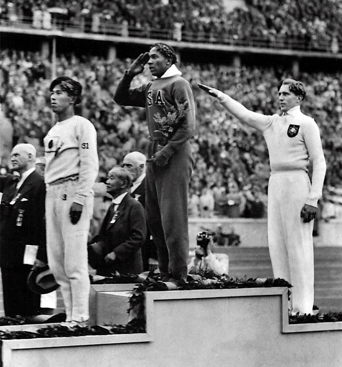The 1936 Olympics in Berlin brought multi-faceted challenges for American runner Owens, from the obvious athletic obstacles to the social and international issues of his surroundings. But even with the added pressure, Owens took home four gold medals, one each in the 100 meters, 200 meters, long jump and as a member of the 4 x 100-meter relay team.