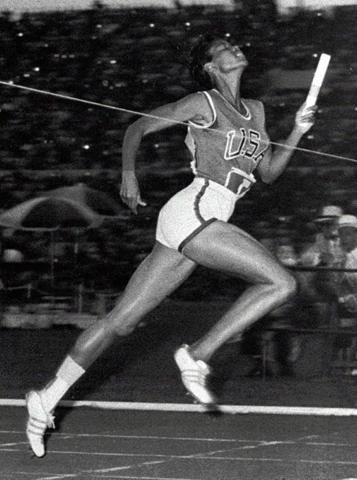 Having overcome polio as a child, Rudolph raised the status of women's track and field at the 1960 Games in Rome, where she won three gold medals (100 meters, 200 meters, member of 4 x 100-meter relay), making her the first American woman to do so in a single Olympics. And she did it all while competing on a sprained ankle.