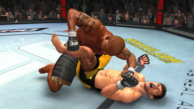 "In its second foray into the gaming world, the UFC will release ""UFC 2009 Undisputed"" this spring. Quinton ""Rampage"" Jackson and Forrest Griffin took a break from their pre-fight training regimen to give you a glimpse into the promotion's virtual MMA delight.  As Jackson and Griffin pointed out, the game's so real that Rampage can smell his trainer's breath (not really) and Griffin's ears are proportional to the real things. (Sorry, Forrest.)"