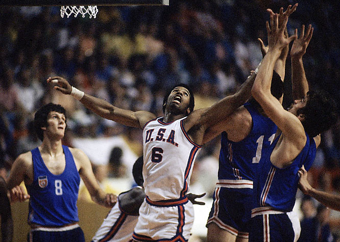 After a controversial loss in the 1972 Munich Olympics, the U.S. men had more on their mind than Olympic gold: They wanted to beat the Soviets.  In the semifinals, the Dean Smith-coached squad did just that, topping the USSR before beating Yugoslavia for the gold in the finals.