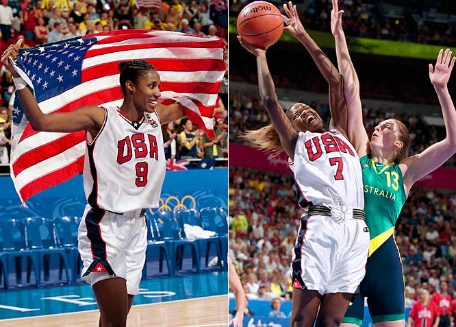 Behind Chamique Holdsclaw, Lisa Leslie (9) and Sheryl Swoopes (7), the U.S. women took home another gold in Sydney.