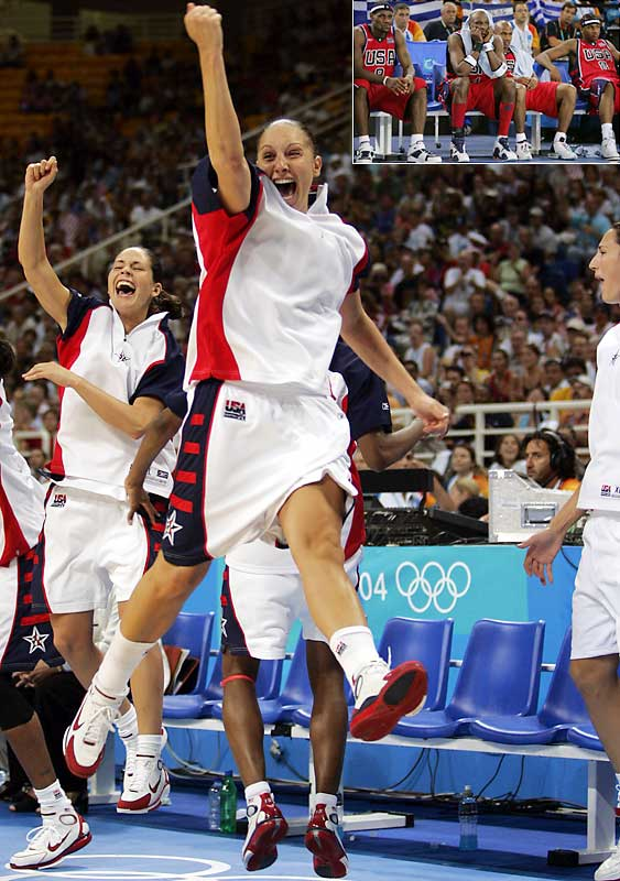 As the men faltered, Diana Taurasi and Sue Bird led the women to their fourth consecutive gold medal (and fifth overall) in Athens.