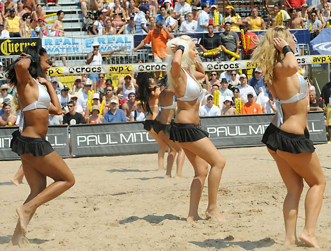 The AVP Tour Cheerleaders.